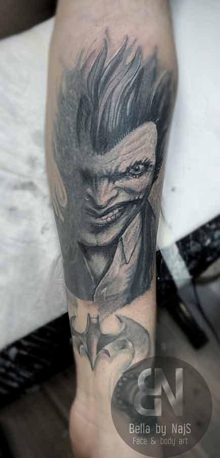 Joker Cover-up Tattoo