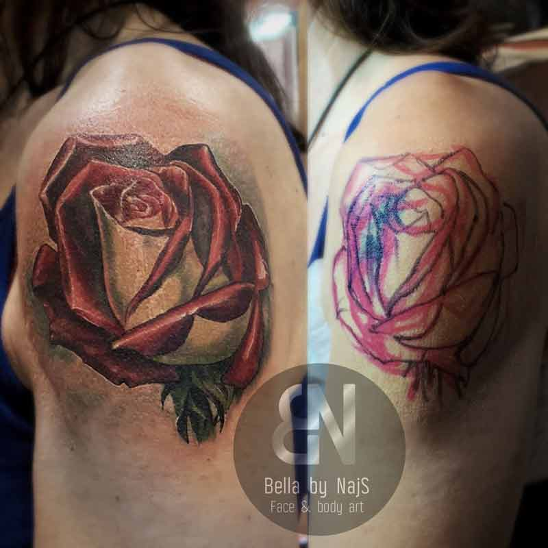 Rose flower cover up