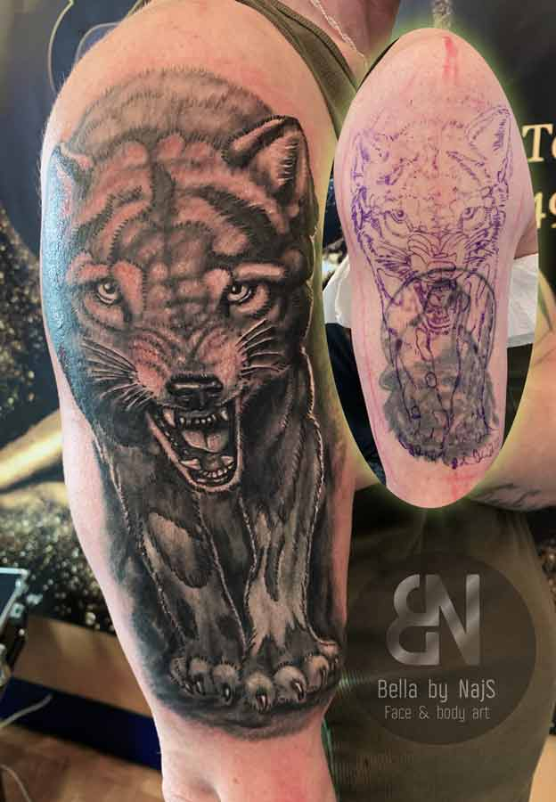 Wolf Cover-up-Tattoo