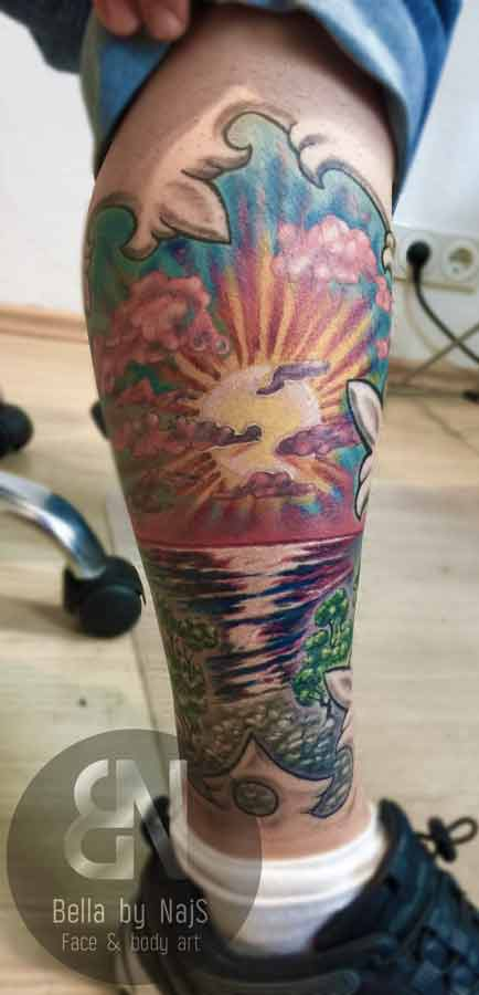 Sundown Beach Tattoo